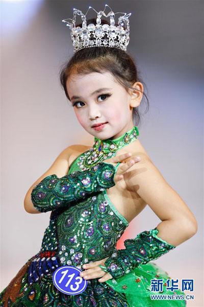 少儿时装模特大赛在青岛举行